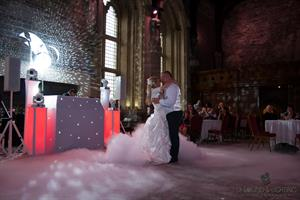 Weddin Dj at Caerphilly Castle.  A top nights wedding entertainment and music by DJ Sound & Lighting